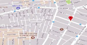 Map of New Commercial Center, Tel Aviv