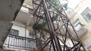 First elevator, Tel Aviv, commercial building